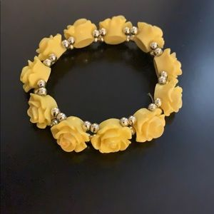 Yellow rose bracelet